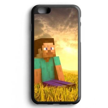 Custom Case Sunset With Minecraft for iPhone Case & Samsung Case