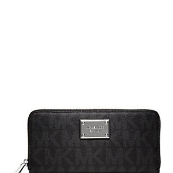 MICHAEL Michael Kors Signature Jet Set Zip Around Contintental Wallet | Dillard's Mobile