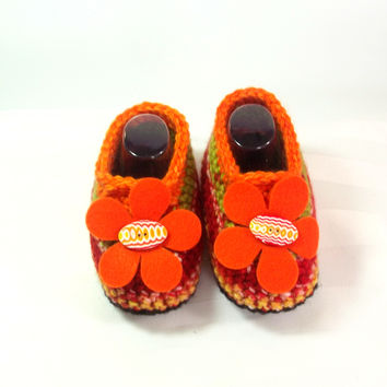 Toddler Girl Loafer - Crochet Baby Shoe - Boho Girl Shoes - Spring Girl Loafers - Toddler Slipper Boots