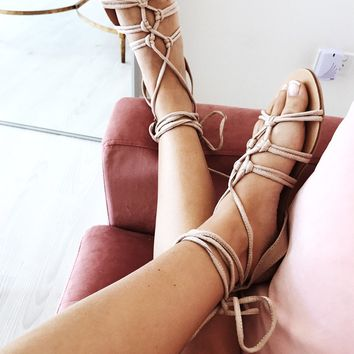Mykonos Flats - Nude - Shoes by Sabo Skirt