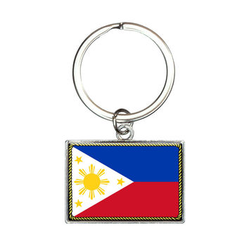 Flag of Philippines Rectangle Keychain