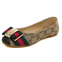 GUCCI Women Fashion Moccasin-Gommino Flats Shoes