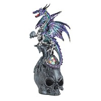 Mystical Jeweled Dragon And Skull Figuri