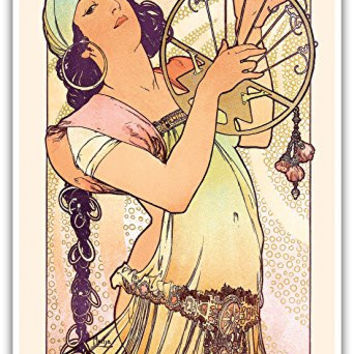 "Gypsy - Art Nouveau - La Belle Époque- ""Les Maitres de l'Affiche""- Art Deco- Vintage French Advertising Poster by Alphonse Mucha c.1897 - Master Art Print - 13in x 19in"