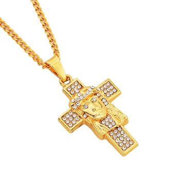 Stylish Shiny Gift Jewelry New Arrival Alloy Cross Necklace [10819553667]