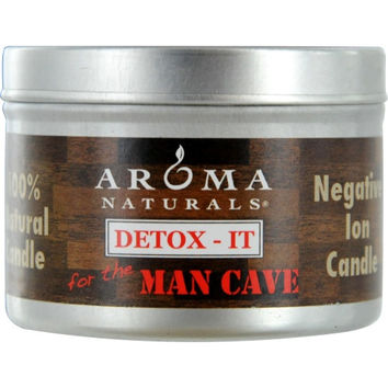 DETOX-IT AROMATHERAPY by  ONE 2.5x1.75 inch SOY/BEESWAX BLEND AROMATHERAPY CANDLE FOR THE MAN CAVE. REBALANCE ROOM ODORS WITH NATURAL BEESWAX, SUNFLOWER, SOY & RICE BRAN WAX.  BURNS APPROX. 15 HRS.