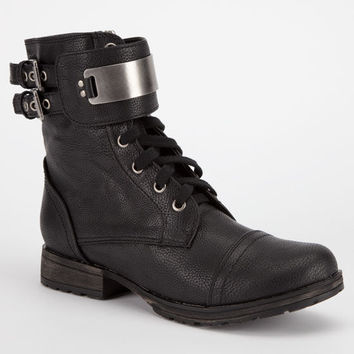 Breckelle's Biker Womens Boots Black  In Sizes