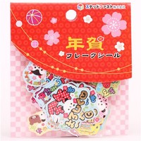 Japanese paper sticker sack Happy New Year - Sticker Sacks - Sticker - Stationery