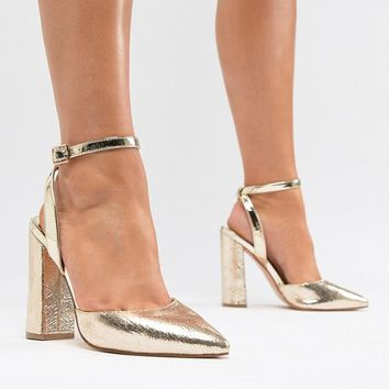 River Island Wide Fit Point Sling Back at asos.com