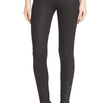 rag & bone/JEAN 'Ryder' Coated Crop Skinny Jeans (Coated Black) | Nordstrom