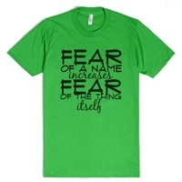 Harry Potter fear-Unisex Grass T-Shirt