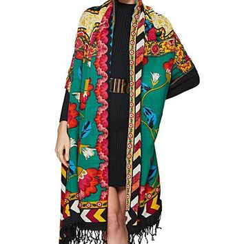Luxury Brand Cashmere Large Scarves and Shawls