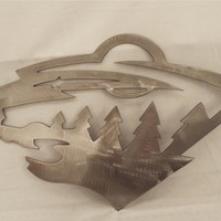 Minnesota Wild Sign, MN wild logo metal sign, cnc plasma cut