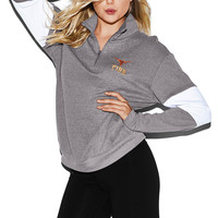 University of Texas Bling Boyfriend Half-Zip - PINK - Victoria's Secret