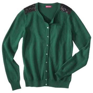 Merona® Women's Cardigan Sweater w/Sequin Shoulder Detail - Assorted Colors