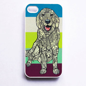 iPhone 4 Case  Golden Retriever  Zentangle Art by MayhemHere