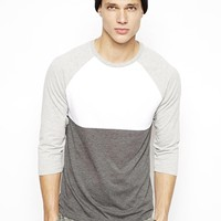 ASOS 3/4 Sleeve T-Shirt With Cut And Sew