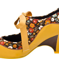 Poetic Licence Schools Out Yellow Floral Size 6