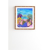 Renie Britenbucher Beached Mermaids Framed Wall Art