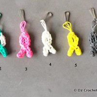 Rainbow Loom Charm - Cancer Awareness - Zipper Pull - Charm - Rubber Band - Cancer Awareness - Rainbow loom charm