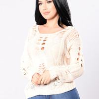 Remember December Sweater - Ivory