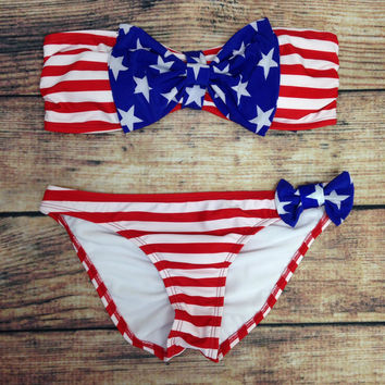 STARS AND STRIPES FOREVER BIKINI – LaRue Chic Boutique