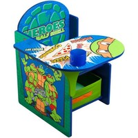Nickelodeon - Teenage Mutant Ninja Turtles Desk & Chair with Storage Bin - Walmart.com