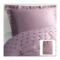 VINRANKA Duvet cover and pillowsham(s), gray - gray - Full/Queen (Double/Queen) - IKEA