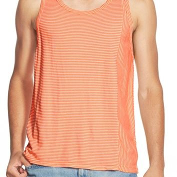 Men's Sol Angeles Pieced Seam Stripe Tank,