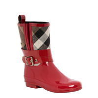 Burberry 3898984 Check Detail Belted Rain Boots