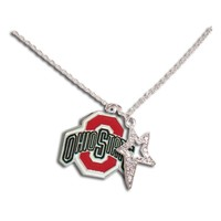 Ohio State University-Necklace with Crystal Star