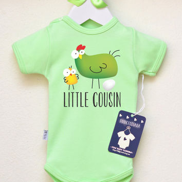 Baby Girl Clothes. Little Cousin Baby Shirt. Cute Baby Girl Clothes. Animal Baby Shirt New Baby Announcement. Many Colors Available
