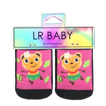 Hula Monkey Baby Socks
