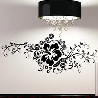 Vinyl Wall Decal Sticker Hibiscus Design #5325