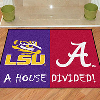 "LSU - Alabama House Divided Rug 33.75""""x42.5"""""