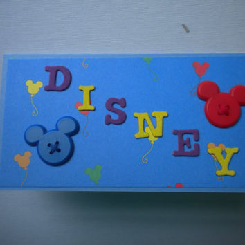 Disney Checkbook Cover by lilaccottagecards on Etsy