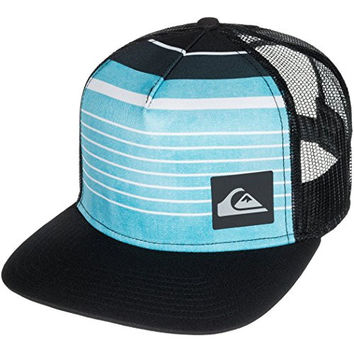 Quiksilver Men's Vertical Trucker Hat, Neon Blue, One Size