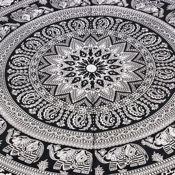 Indian Mandala Tapestry Indian Beach Throw Wall Hanging ,Tapestry Q-121