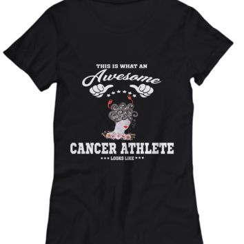 Holiday Astrology Gift Shirt Awesome Cancer Athlete