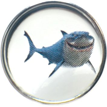 Disney Nemo Bruce The Great White Shark 18MM - 20MM Fashion Snap Jewelry Snap Charm New Item