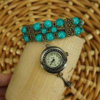 Bohemian Kallaite Vintage Iron Tower Watch