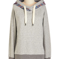ModCloth Mid-length Long Sleeve Hoodie It's All in the Path Hoodie