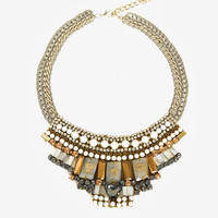 NOCTURNE EXCLUSIVE REEM COLLAR NECKLACE: WHITE