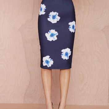High Quality Floral Printed Skirt
