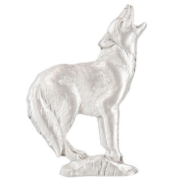 Wolf Howling Pewter Clutch Pin
