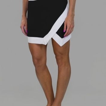 JoFit Ladies & Plus Size Vortex Slimmer Pull On Golf Skorts - Cabernet (Black & White)
