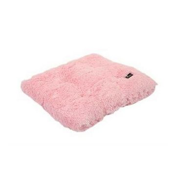 Square Pillow Bed — Light Pink Shag