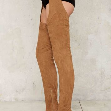 Jeffrey Campbell Maven Thigh-High Boot - Taupe