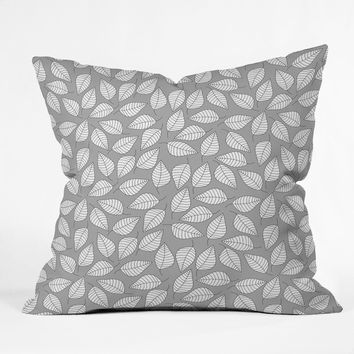Bianca Green Leafy Throw Pillow