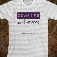 ***  Zombies eat brains! ***  Funny gift for your best bro!